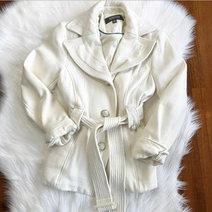 {Kenneth Cole Reaction} Cream Peacoat